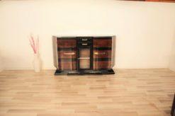 Art Deco, Sideboard, Buffet, pianolacquer, wood, veneer, vitrine, compartement, highgloss, foot, design, storage, trapez, shape