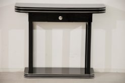 Art Deco Console, small drawer, highgloss pianolacquer, design, furniture, chrome, furniture, living room, luxurious, hand polished