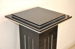 Art Deco Lamp, highgloss black, chromeapplications, unique Design