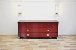 Ferrari Rosso, 6 drawers, chromefittings, handpolished, curved foot with chromline
