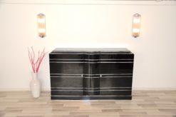 Art Deco Chromliner, chromelines, highgloss / black, interior in mat black, unique Design, french keys