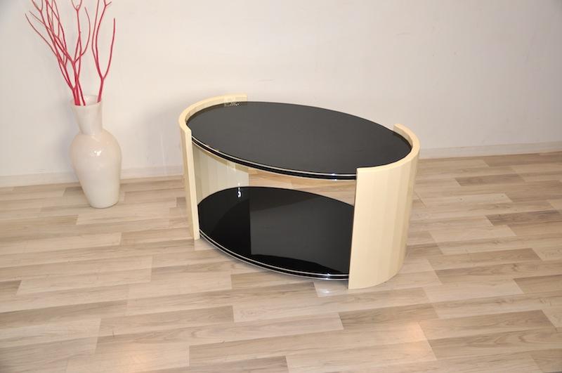 Oval Art Deco Coffee Table Original Antique Furniture