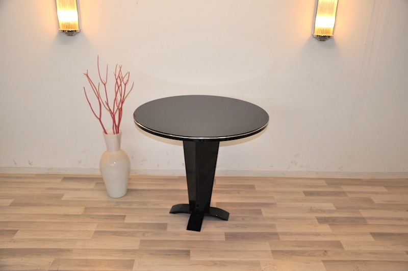 round art deco table original antique furniture. Black Bedroom Furniture Sets. Home Design Ideas