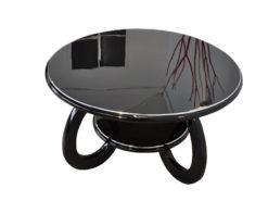 wonderful furniture, curved legs, chromebars, handpolished, absolute Eyecatcher