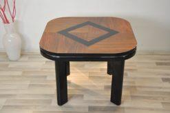 Classic Design, highgloss black, black painted rhombus, handpolished, chromebars