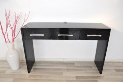 Art Deco Console, lacobel glasplate, chromebars, handpolished, 3 drawers, absolute Eyecatcher