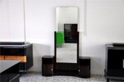 wonderful Art Deco Console/Commode, 2 swingdoors, big mirror, Makassarwood, handpolished