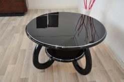 wonderful furniture, curved legs, chromebars, handpolished, absolute Eyecatcher
