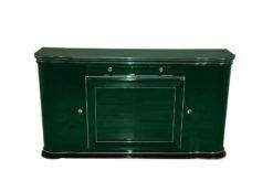 elegant Sideboard, swung doors - british craftmansship, timeless Design, glass sliding doors in Jaguar Racing Green, 2 drawers and plenty of storage space