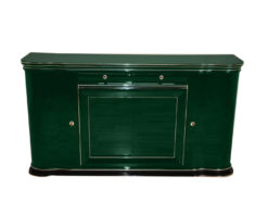 elegant Sideboard, swung doors - british craftmansship, timeless Design, glass sliding doors in Jaguar Racing Green, 2 drawers and plenty of storage space