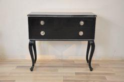 Art Deco Commode,original curved legs, 2 big drawers, chromefittings, chromebars, handpolished
