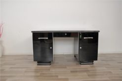 Art Deco desk, timeless design, pianolacquer with 12 layers, chromehandles, france 1940