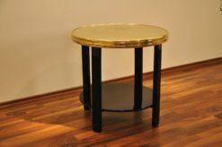 Art Deco Sidetable,unique color and design, golden top plate, filigree feet, highgloss paintjob
