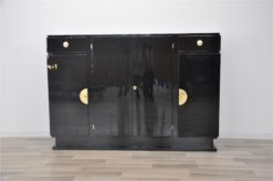 Art Deco Highboard, pretty clean interior, wonderful body with 4 doors, big original fittings, massive shelves