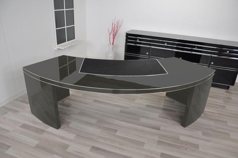 usa bauhaus ceo desk xxl in highgloss grey original. Black Bedroom Furniture Sets. Home Design Ideas