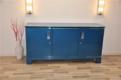astonishing color: steel blue metallic, chromapplications and handles, french design of the 1940s,clean interior, absolute Eyecatcher!