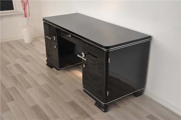 black art deco desk original antique furniture. Black Bedroom Furniture Sets. Home Design Ideas