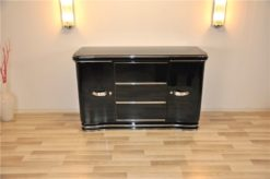 Art Deco Sideboard, wonderful chrome fittings, extension plate with piano lacquer