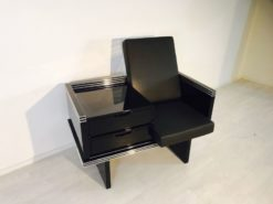 Art Deco armachair, france, unrefurbished single piece, chromelines, customizable