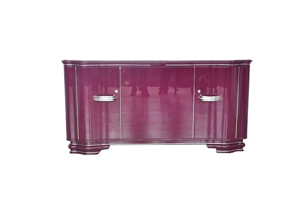 Lilac art deco sideboard with chrome handles original - Sideboard lila ...