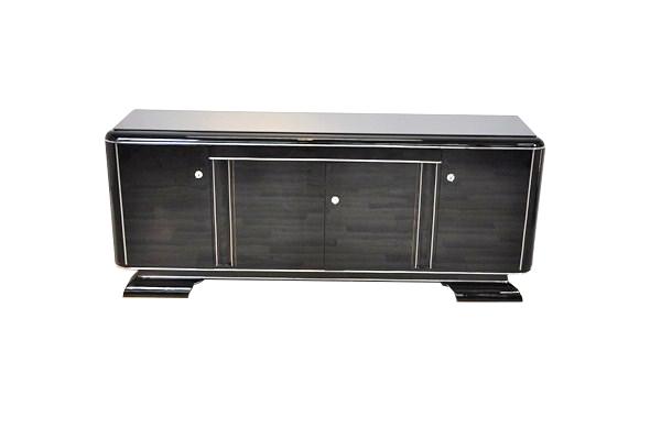art deco lowboard with lacobel glass plate original. Black Bedroom Furniture Sets. Home Design Ideas
