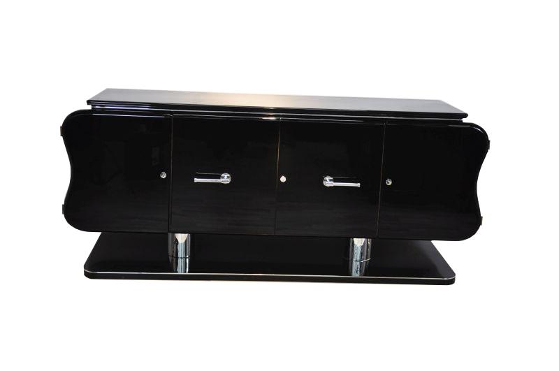 curved art deco credenza original antique furniture ForDesigner Di Mobili Francesi Art Deco