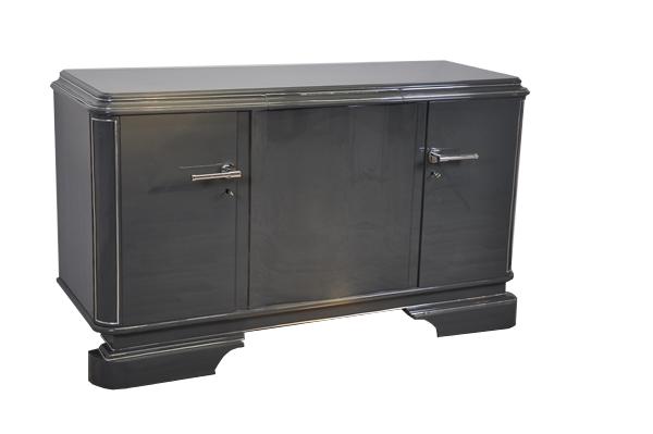 grey metallic sideboard original antique furniture. Black Bedroom Furniture Sets. Home Design Ideas