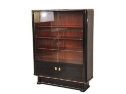 Art Deco Vitrine, unique Design, handpolished, big glass pane, plenty of storage space