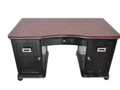 wonderful leatherplate in bordeaux red, unique design, france 1928, lockable doors and drawers, unique piece of furniture