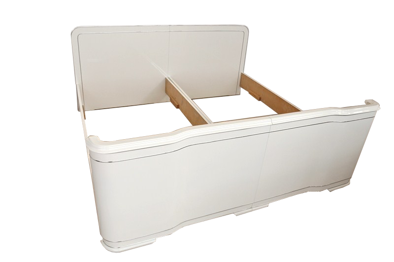 Magnificent art deco bed original antique furniture - Deco bed kind ...