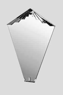 Art Deco mirror nancy, great chromedetails, classic form and unique design