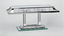 elegant table lamp paris, great Art Deco design, fine chrome elements, handmade