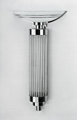 Wonderful Art Deco Wand lamp Papillon, unique design, beautiful glass bars