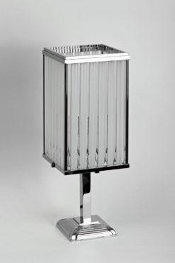 Art Deco tablelamp, glass elements, chrome, great design