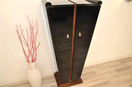 Art Deco Console, tulip form, rosewood, unique furniture, pianolacquer