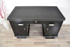 belgian Art Deco desk, wonderful leatherplate, chromehandles, pianolacquer, handpolished