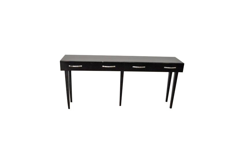 Art Deco Console Table 5 Filigree Legs Highgloss Black Paintjob Lacobellgl 2
