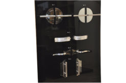 high quality Art Deco chrome handles, fittings,