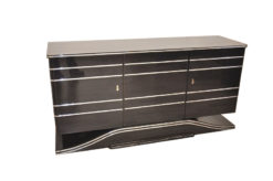 british Art Deco Sideboard, plenty of storage space, great chromelines, wonderful formed foot, clean interior