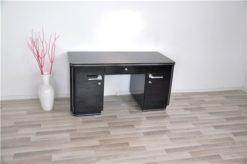 Classic art deco desk, highgloss black, chromehandles, fine chromelines, plenty of storage space