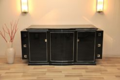 Art Deco Sideboard, New York, 1935, highgloss Black, great interior
