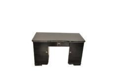 Art Deco Desk, Pianolacquer, lacobel glas plate, lockable, simple design