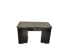 Art Deco Desk, Pianolacquer, lacobel glas plate, lockable, simple design