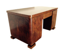 art deco desk, big palisander body and plate, beautiful furnier picture, unique feet