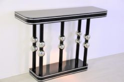 Art Deco Console, Chrome Balls, pianolacquer, great body language
