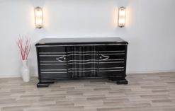Art Deco Sideboard, Chromliner, Pianolacquer, great handles, plenty of storage space, absolute Eyecatcher