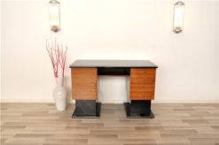 Bauhaus Desk, Bi-colored design, clear body, highgloss lacquer, brass locks