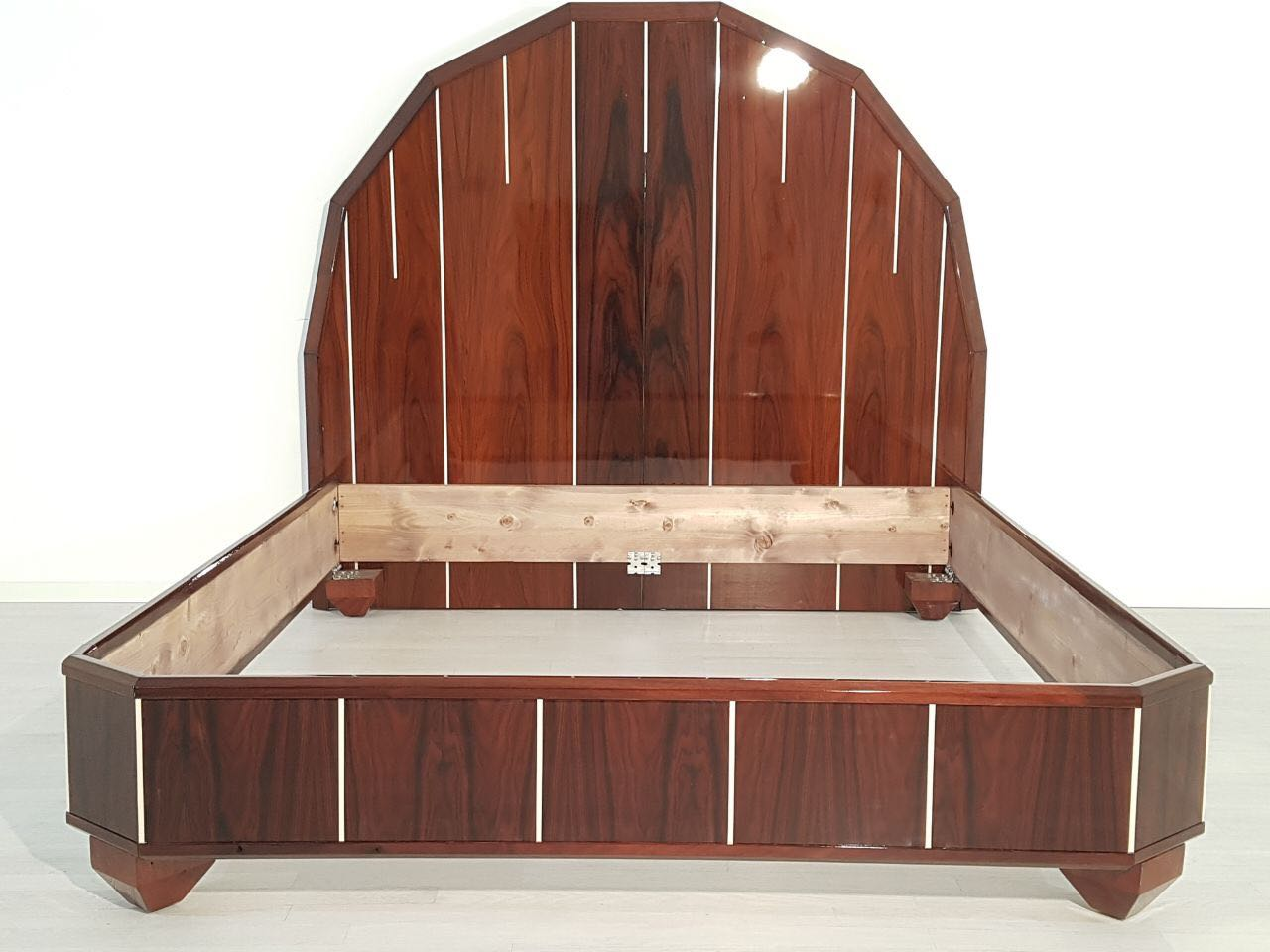 Art Deco Bed Made Of Palisander Wood Original Antique