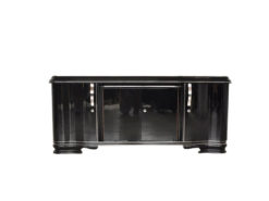 Art Deco Lowboard, Sideboard, big drawer, great feet, highglossblack pianolacquer, swing doors