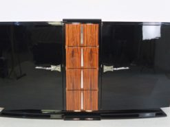 Art Deco Sideboard, unique palisander wood, highgloss pianolacquer, chrome handles, clean interior, france, 1928